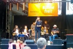 First Ukulele Band Filsbach tritt auf in Mannheim.