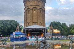 Eichbaum-Bühne am Mannheimer Stadtfest.
