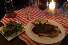 Leckeres Nachtessen im Weinrestaurant Civitas.