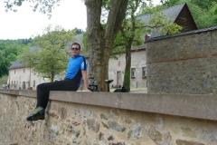 Halt beim Kloster Eberbach.