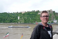 Vor der Festung Ehrenbreitstein in Koblenz.