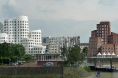 Häuser im Medienhafen von Düsseldorf.