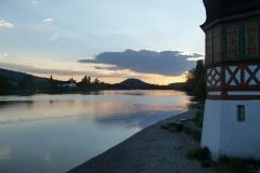 Sonnenuntergang bei Stein am Rhein.