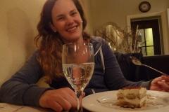 Verdientes Abendessen mit feinem Tiramisu. :-)