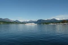 Luzern zeigt sich heute von seiner schönsten Seite.