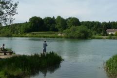Fischer in der Nähe von Bremgarten.