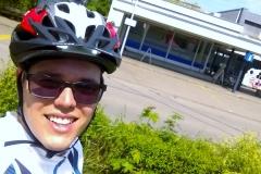 Selfies sind nicht so mein Ding :-) Aber die Ankunft in Bad Zurzach, wo ich vor zwei Wochen schon mal war soll festgehalten werden.