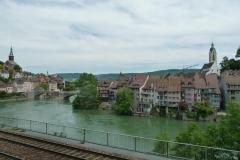 Zwei wunderschöne Altstädtchen: Laufenburg (DE) links und Laufenburg (CH) rechts vom Rhein.
