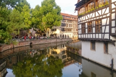 Sonnenuntergangsstimmung in Strassbourg.