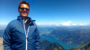 Stefan auf dem Urirotstock Gipfel